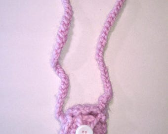 Tiny Crocheted Bag with Button
