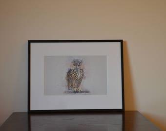 Owl Printable Wall Art, Digital, Animal, Owl, Watercolor Art Print, Owl Print, Prints for nursery, Birthday gift, Gift for her, Home Decor
