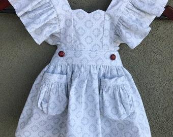 Little Girl/Toddler Vintage Snowflake Romper and Dress