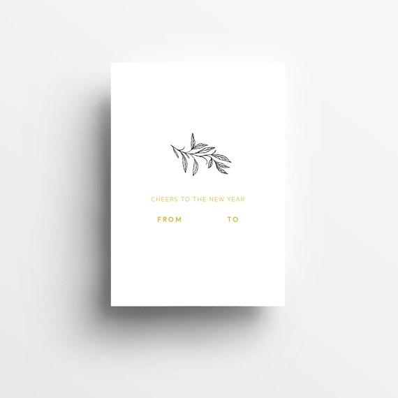 Coming Soon! handgefertigte Grußkarte NEUJAHR, gold, DIN A6