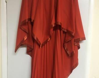 Stunning Vintage 70's deadstock burnt Sienna gown