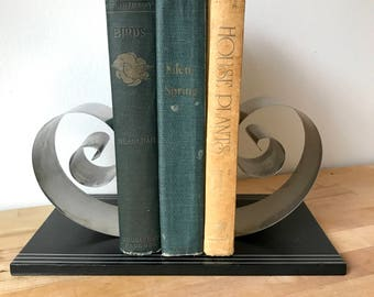Art Deco Bookends in Chrome by Fred Farr 1930s