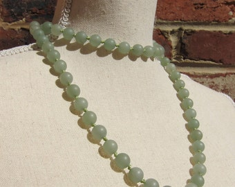 The Hanalei - Matte Aventurine Wrap Necklace - Genuine Aventurine & Pure Silk Thread