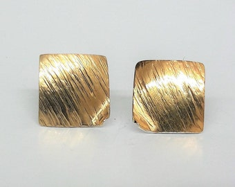 Hand made! Earrings Silver 925 Part gilded