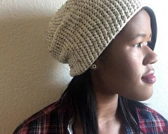 White Crochet Hat, Handmade Crochet Beanie, White Slouchy Beanie, White hat, Handmade White Hat, White Handmade Beanie, White Slouchy Hat