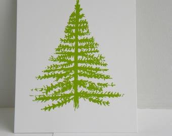 Christmas card, Winter map