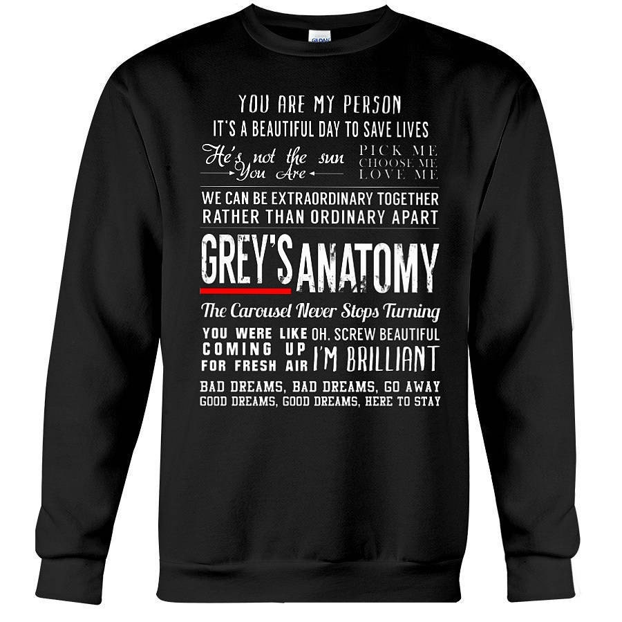 Greys Anatomy Quotes Sweatshirt Grey S Anatomy Greys