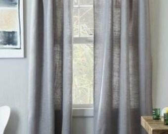 Burlap curtain | Etsy