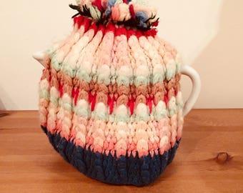 Vintage 1940's handmade knitted teapot cover tea cozy vintage decor