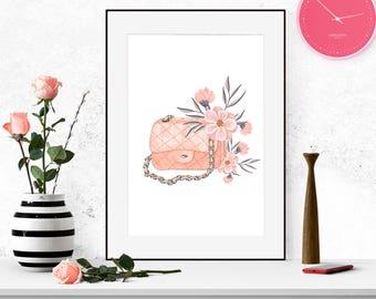 Fashion wall art instant download. Fashion Printable Art. Instant Download. Wall Art. Printable Gift. Home Decor.
