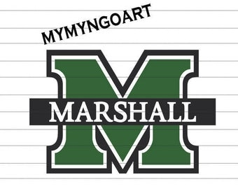 Marshall University Logo Svg, Eps, Dxf, Pdf, Png, Jpe for Cricut and Silhouette-Digital Download.