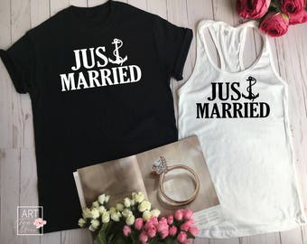 Couples Gift Set, Just Married Shirt Set, Matching Shirts, Hubby Wifey Shirt Set, Hubby Shirt, Wifey Shirt, Wifey Hubby, Mr and Mrs Shirt C5