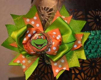 TMNT Teenage Mutant Ninja Turtles Hair Bows