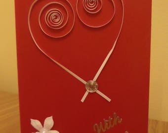 Beautiful With Love / Valentines Day Card