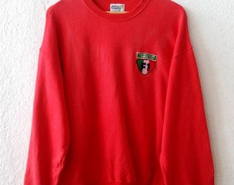 Vintage 90's Benetton Formula 1 Racing Team Small Spell Out Embroidery Sweatshirt Jumper Pullover Size Large (amms589)
