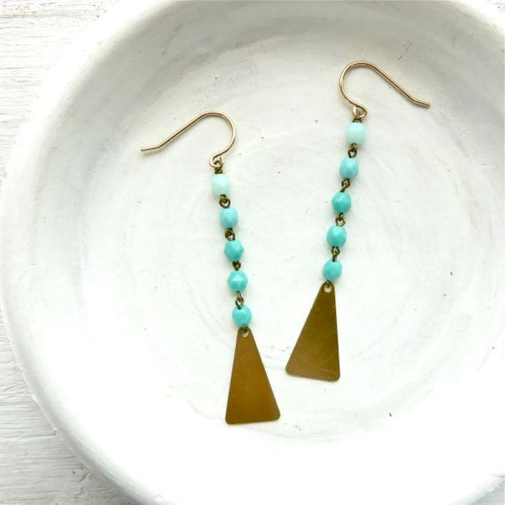 Flare Earrings > Turquoise