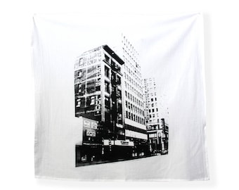 Downtown Los Angeles Tapestry Tea Towel - Jewelry District Los Angeles - Los Angeles Print - Los Angeles Historic Architecture
