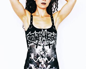 Belphegor shirt tank dress black metal clothing alternative apparel altered band tee t-shirt satanic clothing rocker