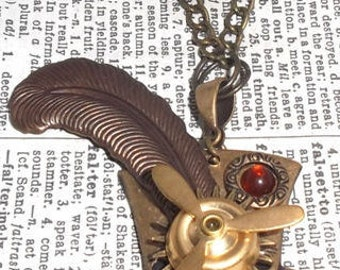 Dandy: Brass Top Hat with Propeller Steampunk Style Pendant