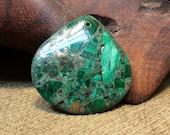 Reorganization Sale 30% off ~ Malachite Pyrite Matrix Squat Teardrop 40x40x5mm