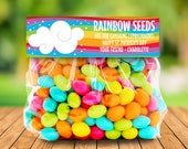 St. Patrick's Day Treat Bag Topper - Rainbow Seeds, Leprechaun, Magical,Self-Editing   DIY Editable Text INSTANT DOWNLOAD Printable
