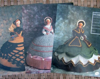 CROCHET 1991 Annie's Calendar BARBIE Fashion Doll Gown Patterns CHOICE September, November, December or All