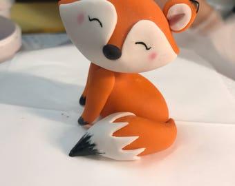 3d edible fondant fox