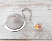 Loose Tea Infuser, Vintage 1960's Glass Marble, Milk Glass, Unique Tea Gift, Tea Gift for Him, Gift for Her, Retro, Mad Men, Gift Boxed