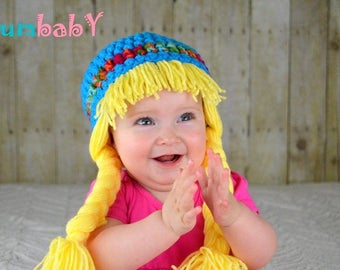 Baby Hats Cabbage Patch Hat Halloween Costume Baby Wig Gifts for Her