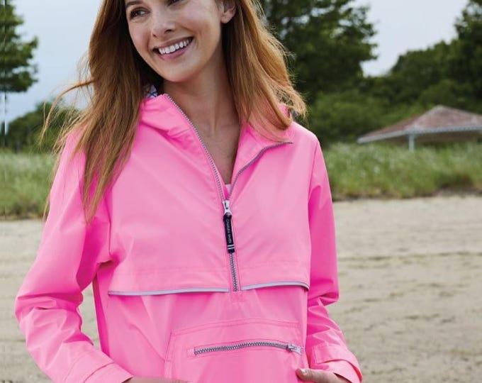 Monogrammed New Englander Pullover Rain Jacket, Charles River Monogram Rain Jacket, Waterproof Rain Jacket, Gifts for Her