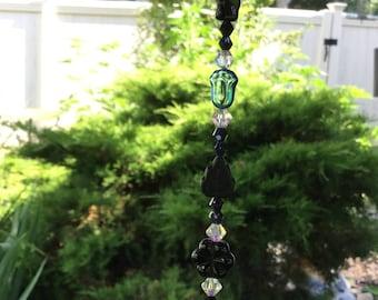 Free Shipping - Harmony - Healing Crystal Prisms/Healing Crystal Suncatchers/Black Meditation Prisms/Black/Clear Meditation Suncatchers