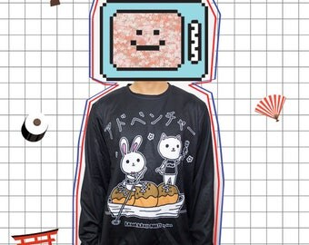 Adventure on Takoyaki Boat Black T-shirt/Sweater!