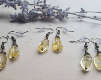 Citrine Earrings, Citrine Gemstone Earrings, Citrine Jewelry, November birthstone Jewelry, Citrine Gemstone Jewelry, November birthday gift