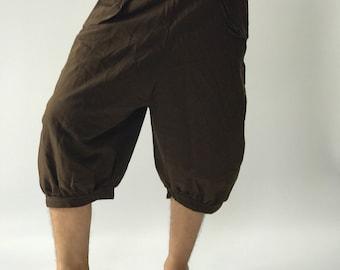 HC0078 capri pants Men's Pants, Thai Pants decorate by hilltribe fabric