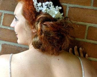 Bridal hair comb, Lace hair comb, Wedding hair piece,  Bridal headpiece ,Lace Headpiece , Wedding headpiece