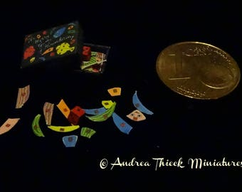 Miniature The Merry Game of Floundering - Artisan Handmade Miniature 1:12 scale