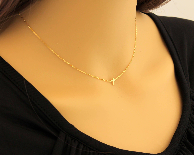 Dainty Cross Necklace, New Style Cross, Cross Necklace, Dainty ...