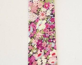 Purple Liberty of London Print tie, lilac skinny tie, purple liberty tie, lavender cotton tie, custom necktie, wiltshire
