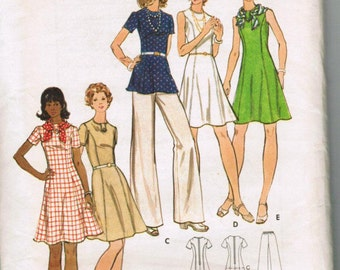 OOP vintage Butterick 3145 Misses & Woman's Dress, Tunic and  Pants Size 10