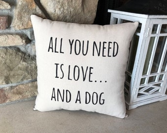 Dog Pillow, Dog Lovers Gift, Pet Owner Gift, Funny Pet Saying, Pillows with Quotes, Home Decor Pillows, Farmhouse Pillow, Funny Dog Gift