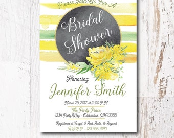 Printed Floral Bridal Shower Invitation - Country Bridal Shower Invitation for your Bridal Shower