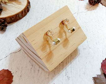 Debonair Marble Collection |  Zircon Crystal Earrings, Howlite Earring Jacket, Howlite Earrings, Ear Jackets, Wedding Earrings, Gift for her