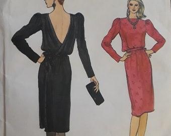 Vintage Vogue 8540 Dress Sz. 16 (1980's)