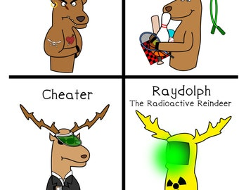 The Other Reindeer - greeting card - christmas - funny - ID #003