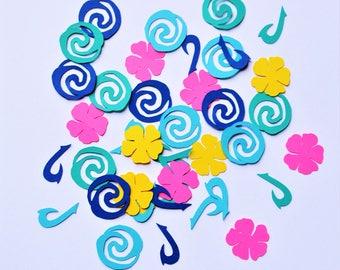 Moana Inspired Confetti - Moana Confetti - Hawaiian Confetti - Hawaii Confetti - Moana Party Decor - Moana Party - Paper Confetti