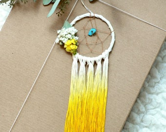 Yellow Mini Dream Catcher- Rearview Mirror Dream Catcher