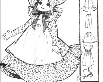 "Sunbonnet Cloth Doll Pattern - Doll Clothes Pattern - 19"" Cloth Doll Pattern - Vintage Cloth Doll Pattern - PDF Pattern - Digital Download"