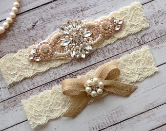 Wedding Garter, NO Slip Lace Wedding Garter Set, bridal garter set, pearl and rhinestone garter set, vintage rhinestones Style A1096