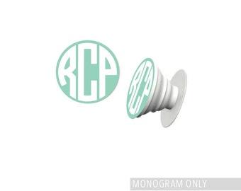 Phone Stand Monogram/ Monogram Decal / Pop Socket Sticker / PopSocket Decal  / PopSocket Monogram / Vinyl Sticker / *MONOGRAM ONLY*