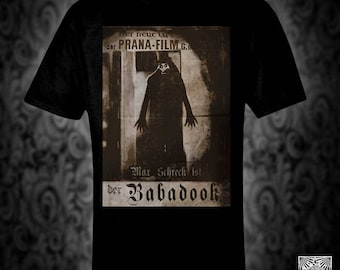 Babadook vintatge style retro film poster T-shirt Horror spooky monster 20s silent movie